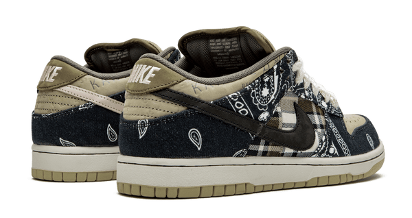 Nike SB Travis Scott Dunk Low Premium Quick Strike Black Black Parachute Beige Petra Brown CT5053-001 pure board shop