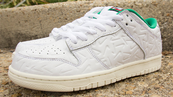 Nike SB X Ben G Dunk Low OG Quick Strike White White Lucid Green Sail CU3846-100 John McEnroe Pure Board Shop