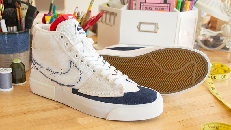 Nike SB Zoom Blazer Mid Edge White Midnight Navy CI3833 100 Hack Pack Blazer Pure Board Shop