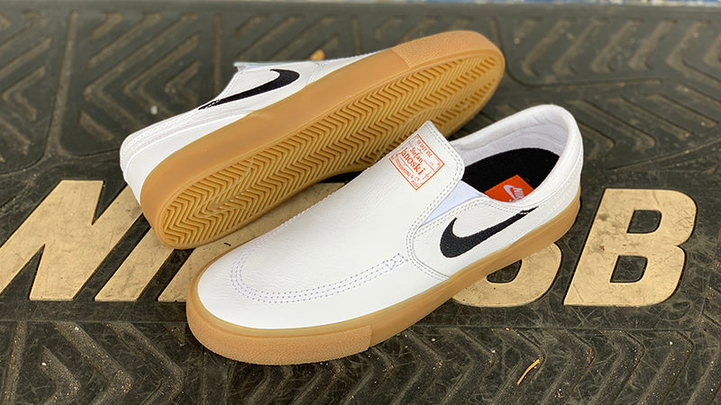 Nike SB Zoom Stefan Janoski Slip RM ISO White Black White CD6762 100 Nike SB Orange Label Pure Board Shop