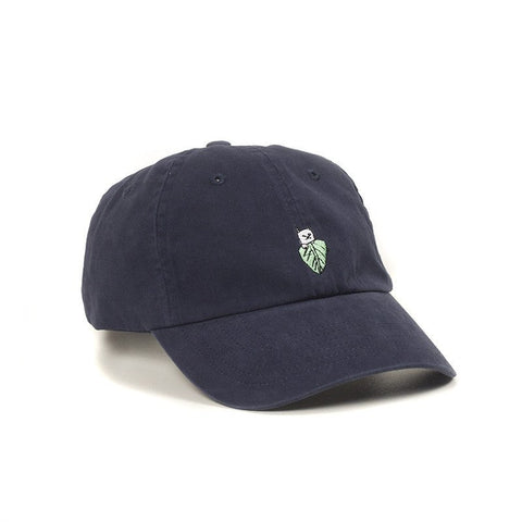 RIPNDIP Lord Nermal Leaf Dad Hat Navy pure boardshop