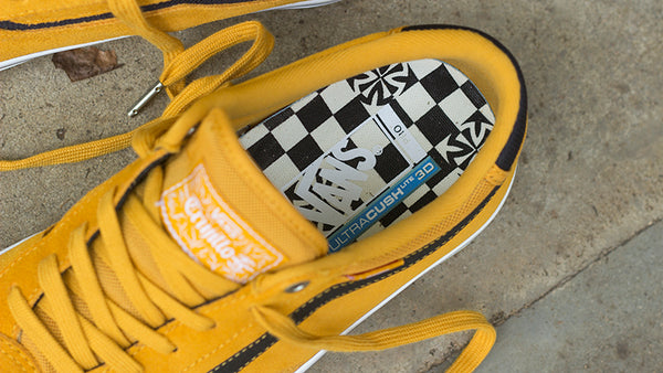 Vans X Independent Truck Co TNT Advanced Prototype Skate Shoes Sunflower VN0A3TJXU2F Vans Fall 2018 pure board shop blog