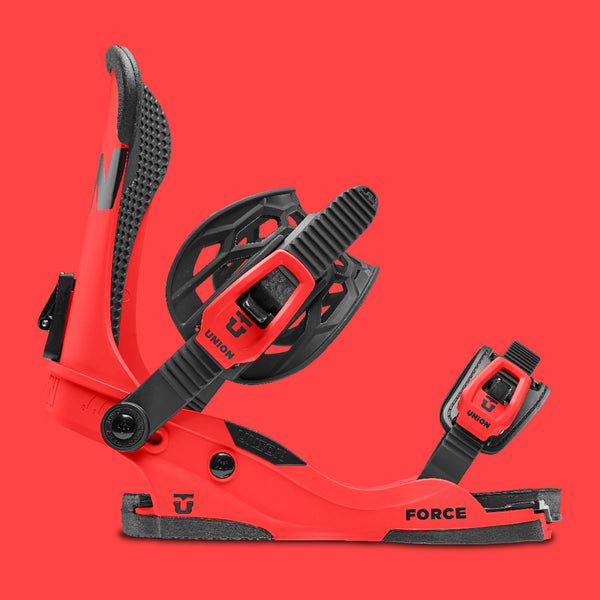 Union Force 5 Pack Snowboard Bindings Red Pure Board Shop