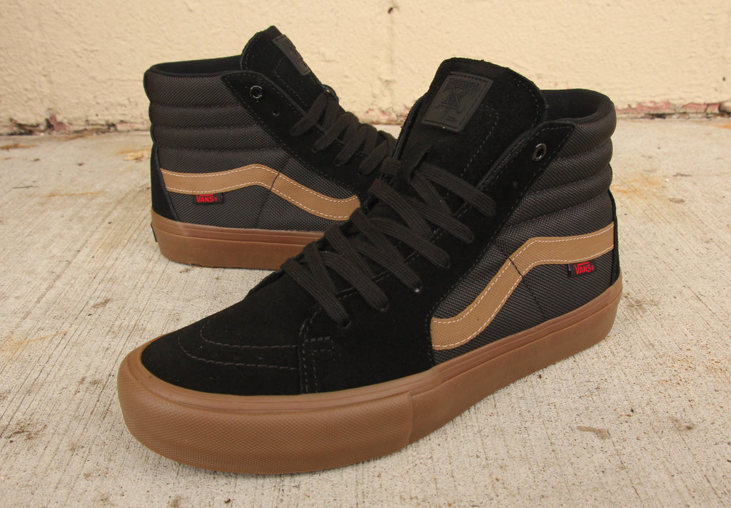 9487f605ae4866 vans x thrasher sk8 hi pro shoes black gum pure board shop