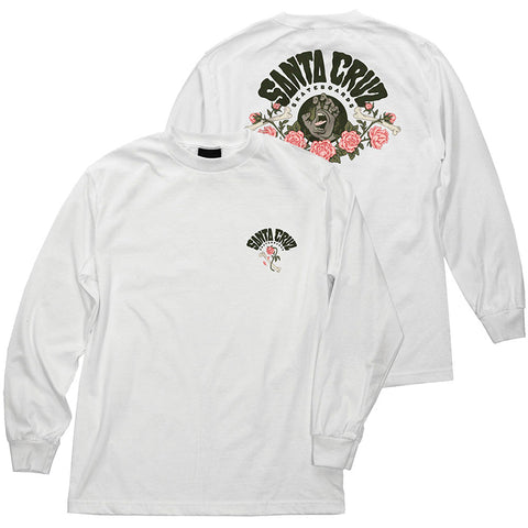 Santa Cruz Screaming Arrangement Long Sleeve T-Shirt White Pure Board Shop