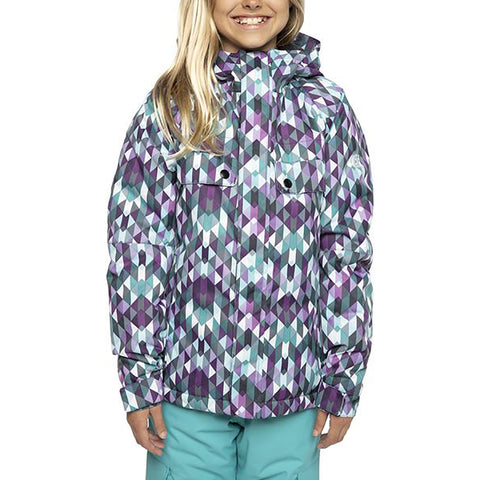 686 Dream Insulated Girls Snowboard Jacket Teal Kaleidoscope pure board shop