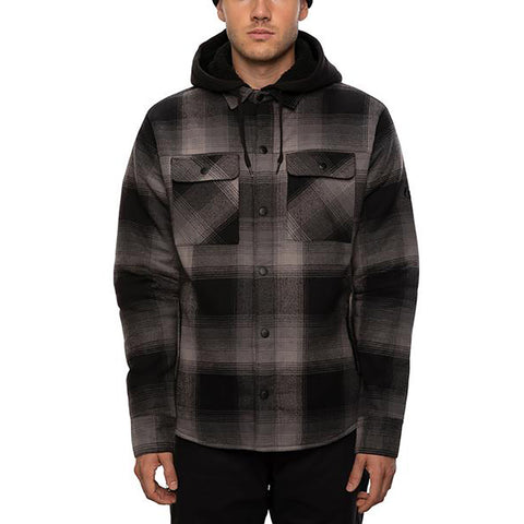686 Flannel Jacket Black Ombre Pure Board Shop
