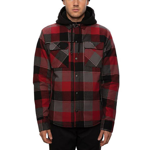 686 Flannel Jacket Oxblood Plaid Pure Board Shop