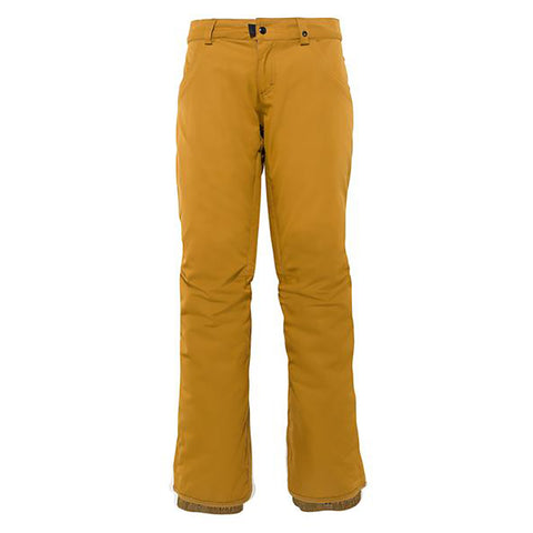 686 Mid Rise Womens Snowboard Pants Golden Brown M0W408_GLDB pure board shop