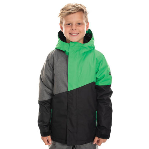 686 Cross Insulated Boys Snowboard Jacket Hex Green Colorblock L9W504_HXGR pure board shop