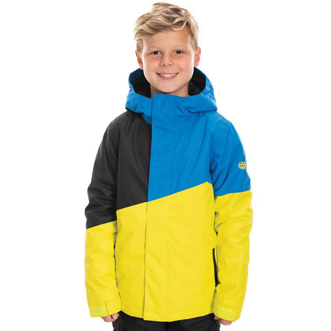 686 Cross Insulated Boys Snowboard Jacket Sulphur Colorblock L9W504_SLPR pure board shop