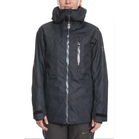 686 GLCR Cloud Down Thermagraph Womens Snow Jacket Black Outline L9W303_BLK pure board shop