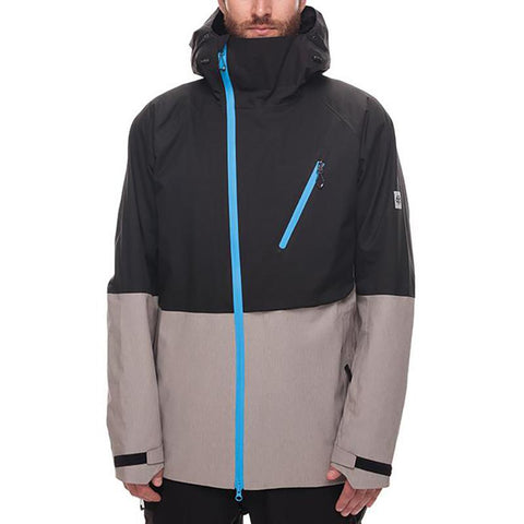 686 Glacier Hydra Thermagraph Snow Jacket 2018 Black Twill Colorblock pure board shop