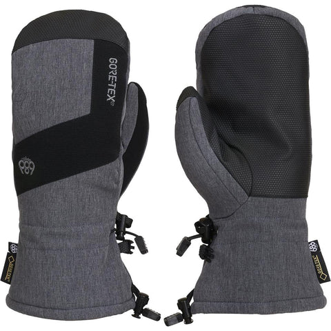 686 Gore Tex Linear Snow Mitten Grey Melange Pure Board Shop