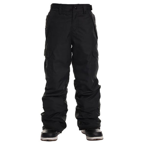 686 Infinity Cargo Insulated Boys Snowboard Pants Black L9W603_BLK pure board shop