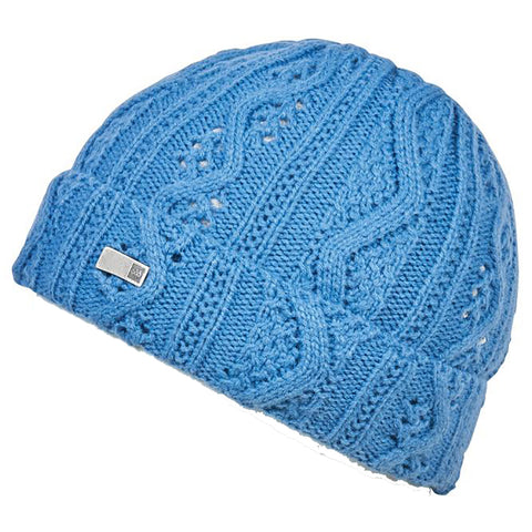 686 Majesty Cable Knit Womens Beanie Washed Indigo L9WBNE10_WSID pure board shop