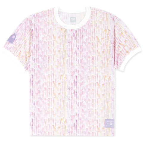 Adidas Nora Jersey T-Shirt White Multi Color FT9770  Nora Vasconcellos pure board shop