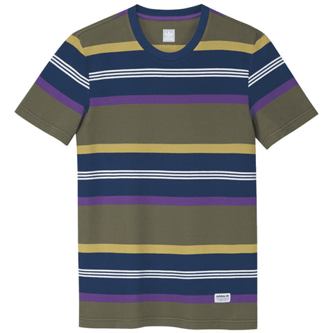 Adidas Skateboarding Grover Pique T Shirt DU3925 Raw Khaki Legend Marine Active Purple pure board shop
