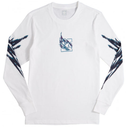 Adidas Skateboarding Tennis Long Sleeve T Shirt White Real Teal Tribe Purple DH3916 Adidas Originals Q3 Fall 2018 pure board shop