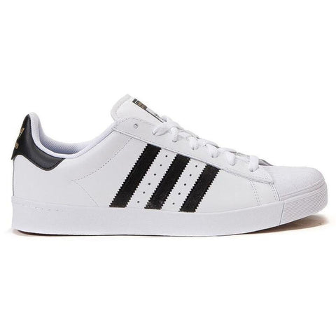 Adidas Superstar Vulc ADV Skate Shoes White/Core Black/White - Pure Boardshop