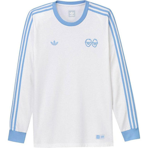 Adidas X Krooked Long Sleeve T Shirt White Clear Blue Adidas Q2 2018 pure board shop