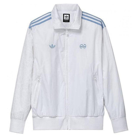 Adidas X Krooked Track Jacket White Clear Blue CW3370 Adidas Q2 2018 pure board shop