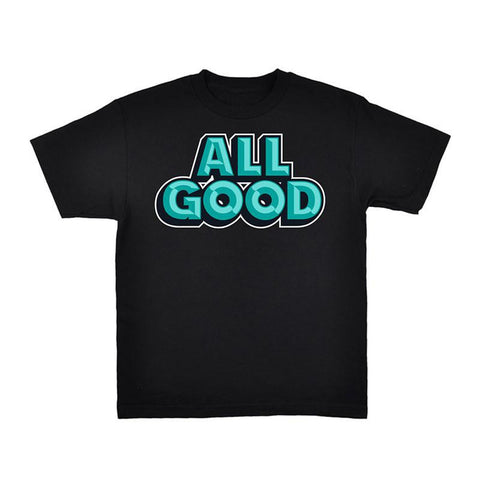 All Good Good T-Shirt Black - Pure Boardshop
