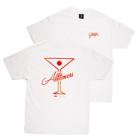 Alltimers League Player T-Shirt White pure board shop