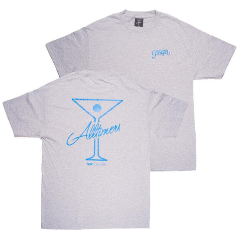Alltimers League Player T-Shirt grey pure board shop
