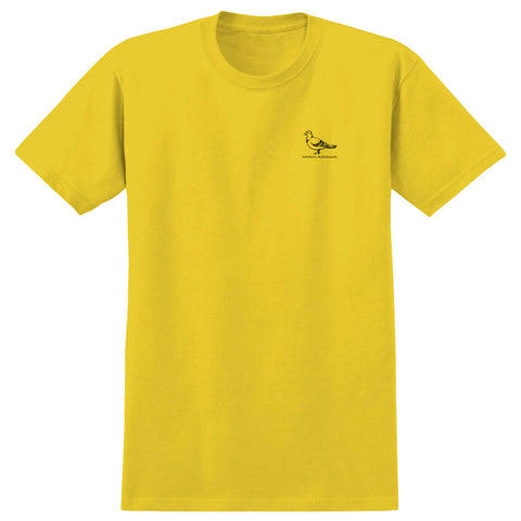 Antihero Basic Pigeon T Shirt Yellow Black Deluxe Dist Spring 2020 Pure Board Shop