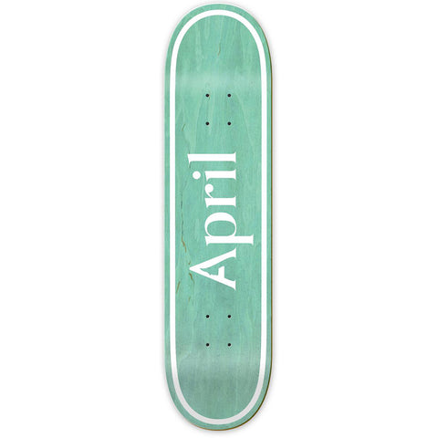"April OG Logo Invert Skateboard Deck 7.8"" Mint pure board shop"
