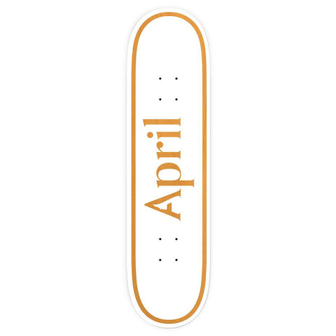 "April OG Logo Skateboard Deck 8.5"" orange pure board shop"