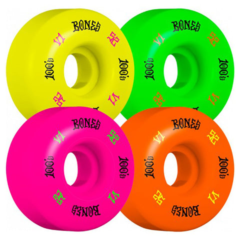 Bones 100's V1 Party Pack Skateboard Wheels