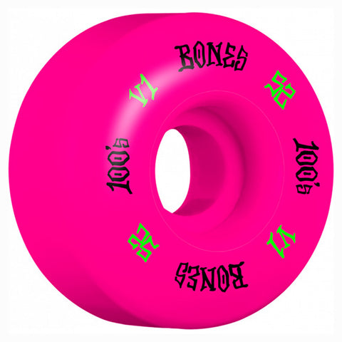 Bones 100's V1 Colored Skateboard Wheels