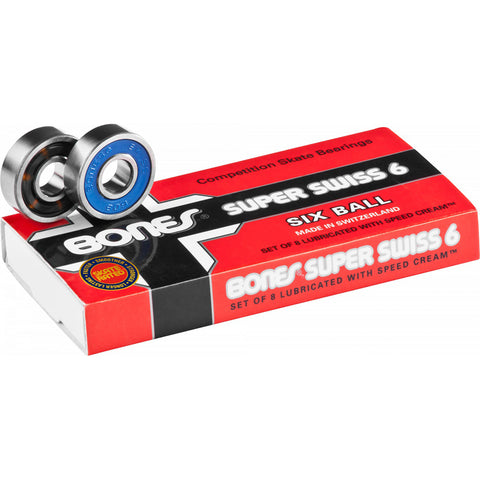 Bones Super Swiss 6 Ball Skateboard Bearings