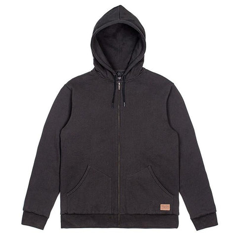 Brixton Billings Zip Hood Fleece Washed Black - Pure Boardshop