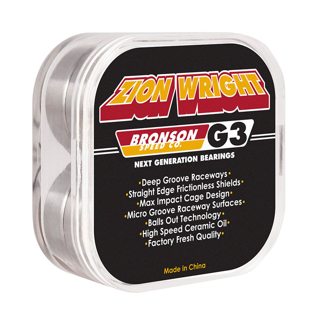Bronson Zion Wright Pro G3 Skateboard Bearings