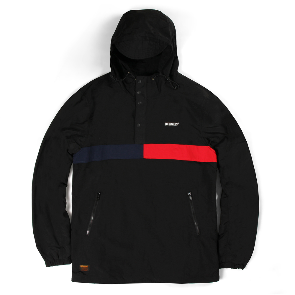 Butter Goods Flag Anorak Jacket Black