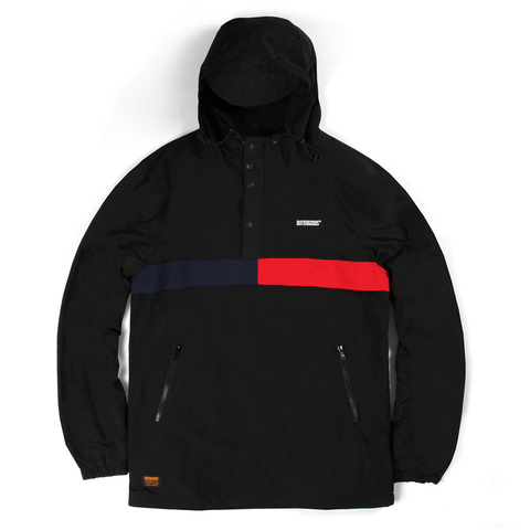 Butter Goods Flag Anorak Jacket Black pure board shop