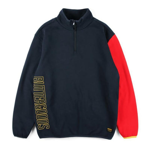 Butter Goods Outline Vert Fleece 1/4 Zip Pullover