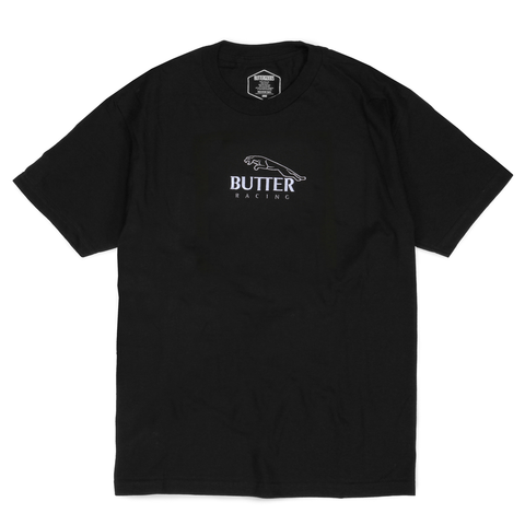 Butter Goods Racing T-Shirt Black pure board shop