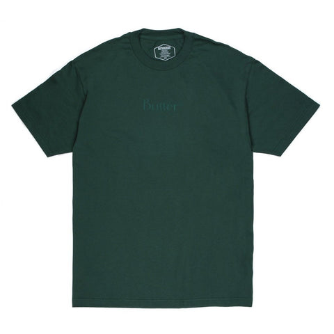 Butter Goods Tonal Classic Logo T-Shirt Forest pure board shop