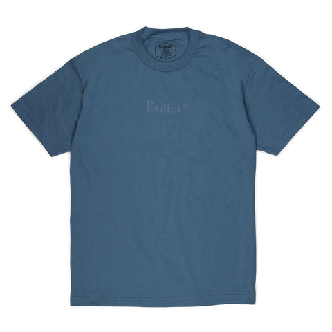 Butter Goods Tonal Classic Logo T-Shirt Slate pure board shop