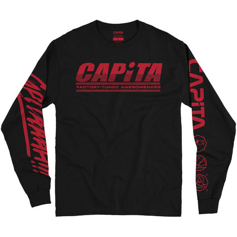 Capita Factory Long Sleeve T Shirt Black Capita 2020 C3 Worldwide Pure Board Shop