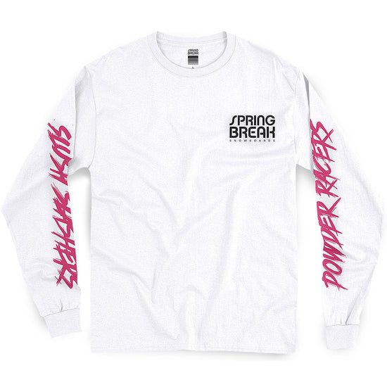 a0f42ae2409 Capita Spring Break Power Racers Long Sleeve T Shirt White pure board shop