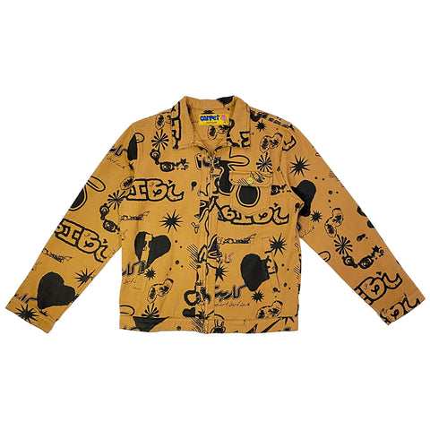 Carpet Silly Boy Full Print Work Jacket Brown Carpet Company Season 11 Pure Board Shop
