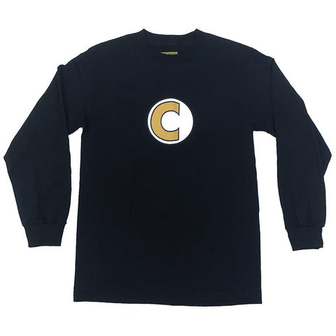 Carpet Company Big C Logo Long Sleeve T-Shirt Black pure board shop