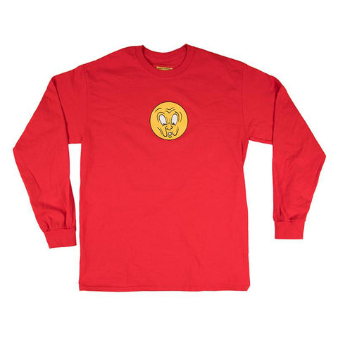Carpet Company Corny Long Sleeve T-Shirt Red pure board shop