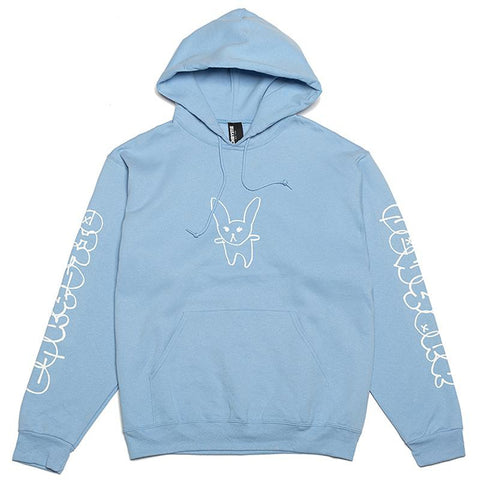 Chrystie Summer Rabbit Pullover Hoodie Light Blue pure board shop