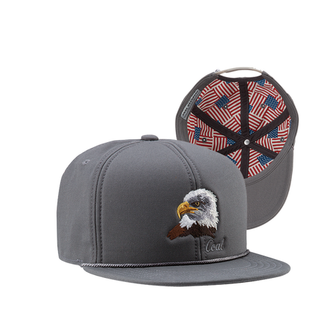 COAL HeadwearThe Wilderness SP Snapback Hat Charcoal Eagle